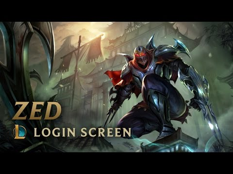 Zed, the Master of Shadows | Login Screen - League of Legends