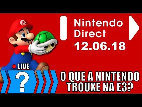 React Ao Vivo da Nintendo Direct 12/06/18 | Notícias 1/2