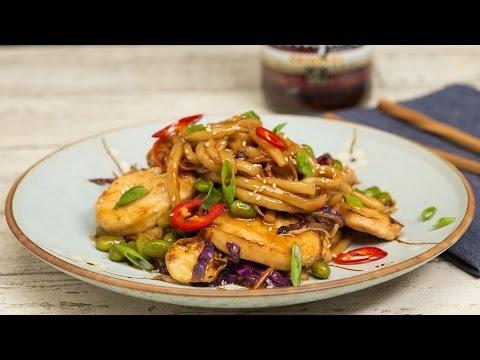 Chicken Udon Stir Fry Noodles