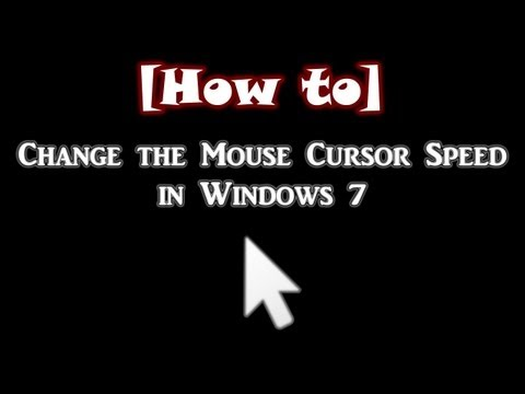 How to Change the Mouse Cursor Speed in Windows 7