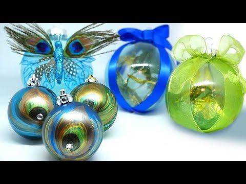 DIY | Dollar Tree Holiday Peacock Ornaments