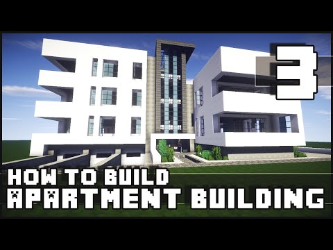 Minecraft - How to Build : Modern Apartment Building - Part 3