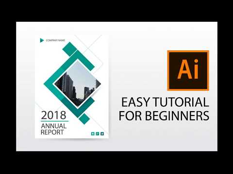 Illustrator tutorial : how to design annual report cover, brochure, flyer template
