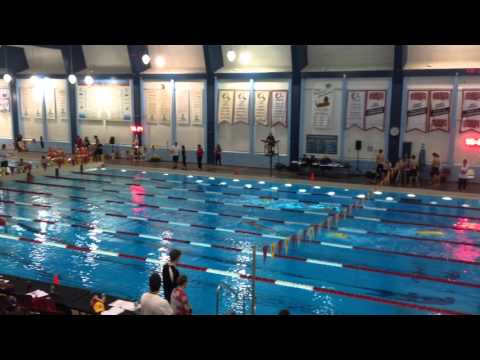 City of Calgary 2015 Lisa Brown 100m manikin tow with fins