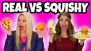 Download Squishy vs Real Food Challenge. Real Food vs Squishy Toys. Totally TV Video