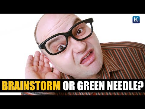 Brainstorm or Green Needle?  This viral sound clip is mind-boggling!