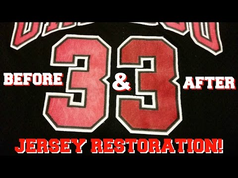 How To Restore Vintage Basketball Jerseys