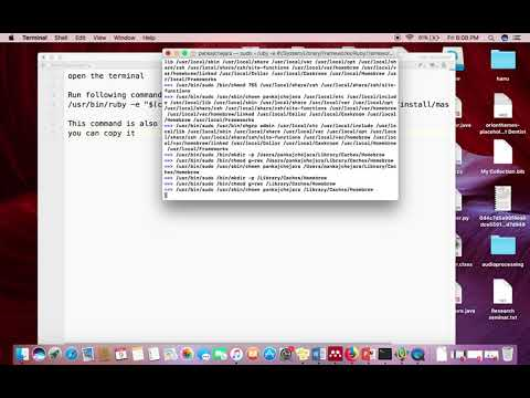 How to install Homebrew on Mac Operating System