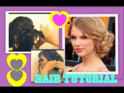 ★ TAYLOR SWIFT HAIR TUTORIAL | CUTE HAIRSTYLES | CURLY MESSY BUN UPDOS for MEDIUM LONG HAIR | PROM