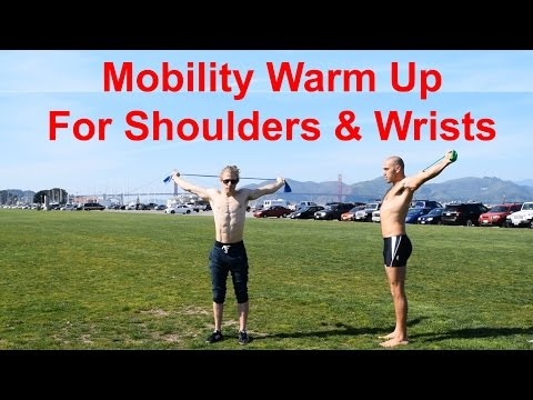 Upper Body Warm Up with Antranik & Aaron (Mobility/Prehab for Shoulders and Wrists)