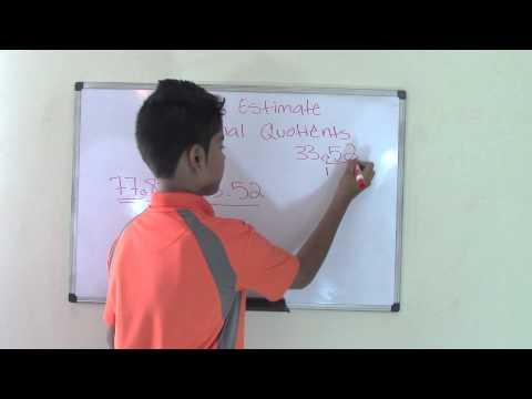 5th Grade Math How to Estimate Decimal Quotients