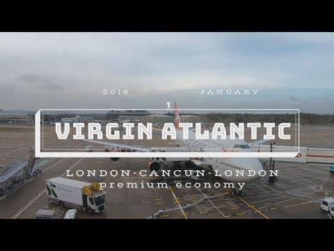 Virgin Atlantic Premium Economy London - Cancun - London