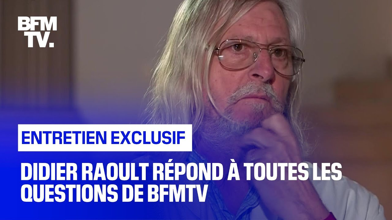 Didier Raoult répond aux questions de Ruth Elkrief et Margaux de Frouville