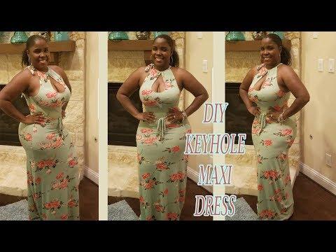 DIY Keyhole Maxi Dress