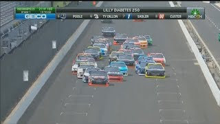 NASCAR Xfinity Series 2017. Indianapolis Motor Speedway. Stage 1 Battle for Win