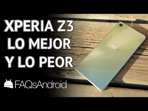 Sony Xperia Z3: Lo mejor y lo peor