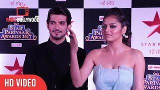 Arjun Bijlani And Drashti Dhami At Star Parivaar Awards 2017   Viralbollywood