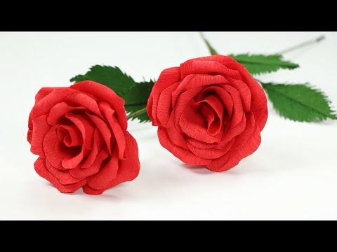 How To Make Rose Paper Flower - Easy Origami Flower For Beginners Making - DIY - Paper Craft