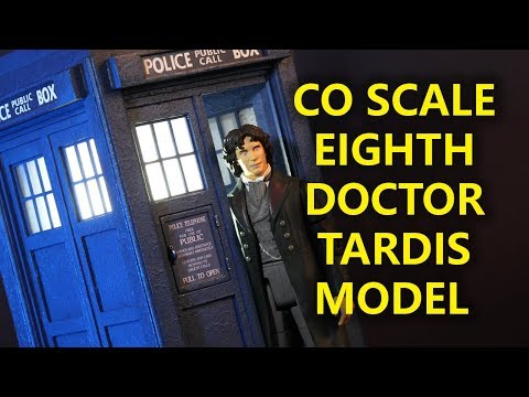 Scratch Built 8th Doctor TARDIS Model