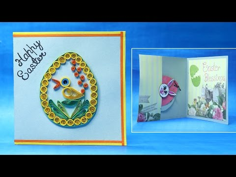 Homemade Easter Cards - Quilling Easter Egg Card Step by Step