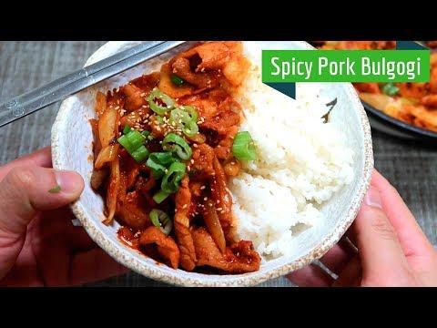 [15 min bowls] Spicy Pork Bulgogi with Kimchi