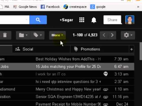 How to group emails by sender in gmail