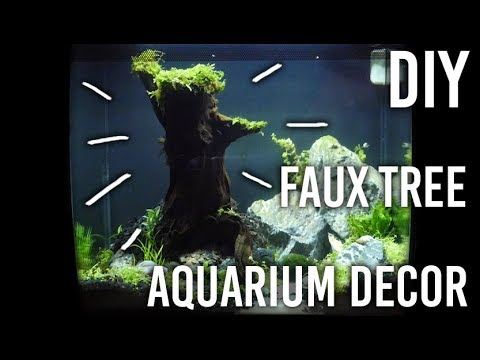 How to Make Aquarium Decor - Moss Fake Tree : DIY