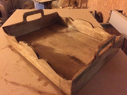 Handmade, white maple, Food Tray