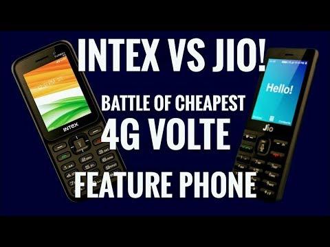 Intex 4g Phone 700-1500rs vs Jio Phone