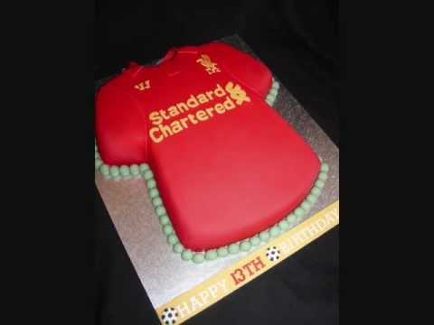 Liverpool Football Shirt Fondant Cake