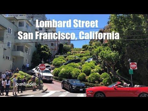 STEEP DRIVE DOWN LOMBARD STREET, SAN FRANCISCO CALIFORNIA