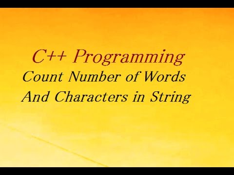 C++ Program To Count Number of Words And Characters in String
