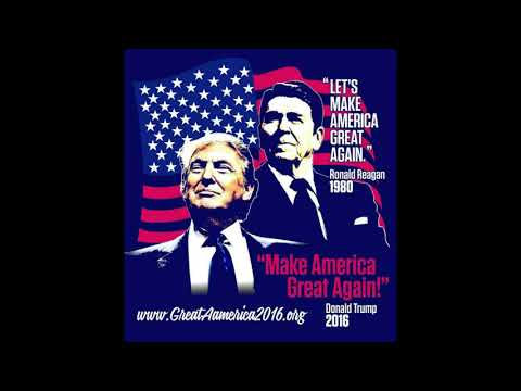 Montage Vidéo Kizoa: Ronald Reagan let's make america great again .  Donald Trump make america grea