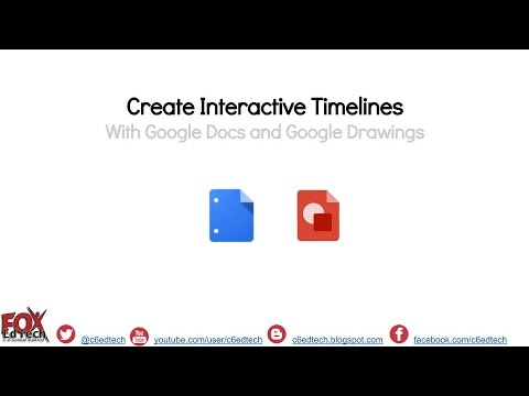 Create Interactive Timelines with Google Docs and Google Drawings