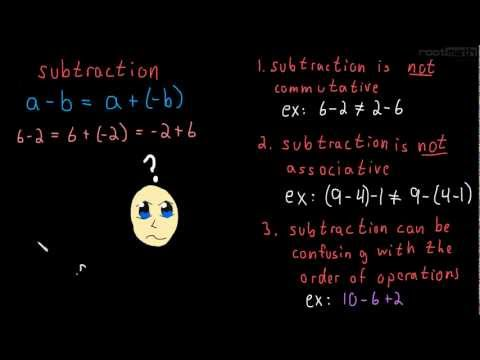 1.3 Subtraction (How to make it behave)