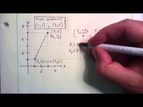 How To Find The Midpoint Using The Midpoint Formula
