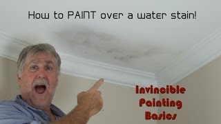 How to paint over water damage; One step process and it