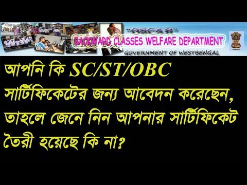 How To Check SC/ST/OBC Certificate Application Status in Bengali