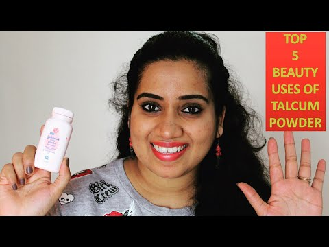 Top 5 Beauty Uses Of TALCUM POWDER | Full Demo | टेलकम पाउडर | Happy pink Studio