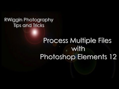 Process Multiple Files with Photoshop Elements 12