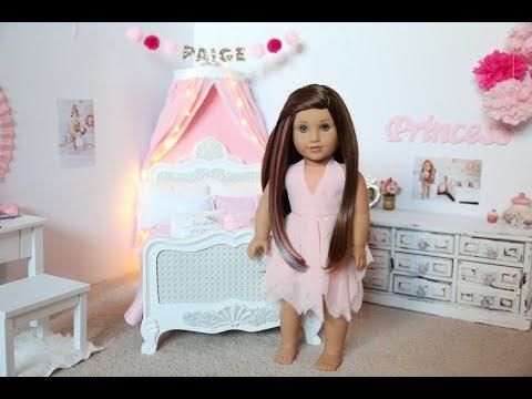 American Girl Doll Paige's Bedroom!! Princess Theme!