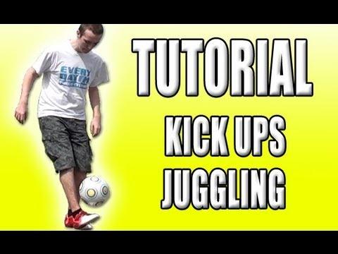 Kick Ups TUTORIAL - Learn How To Juggle A Football Soccer Ball Easily