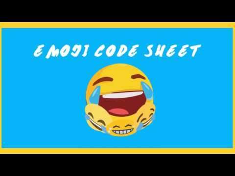 Emoji Code Sheet