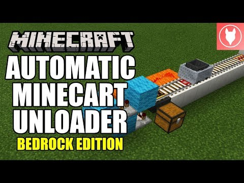 Minecraft Bedrock - Automatic Minecart Unloader Tutorial ( Xbox / MCPE / Windows 10 / Switch )