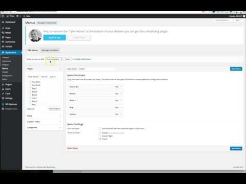 How to create a sub navigation menu in Wordpress