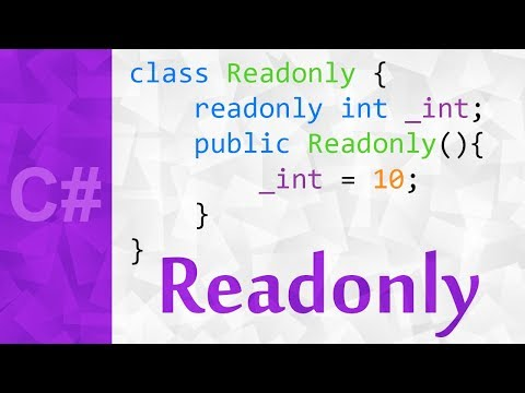Readonly Variable in C# with Example 💻 The Readonly Keyword