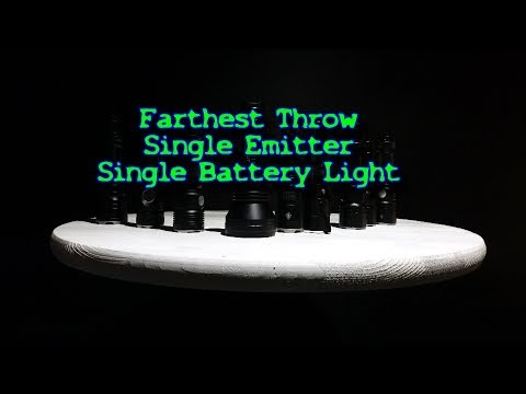 Farthest Throw single battery Flashlight