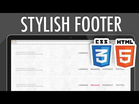 HTML5 CSS3 Stylish Footer | XO PIXEL