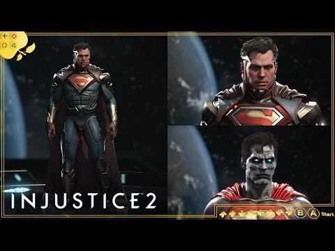 INJUSTICE 2   Personalização do Superman lvl. 20 - Equipamento e cores