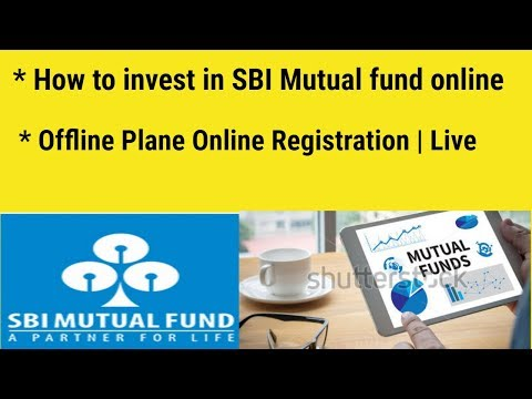 How to invest in SBI Mutual funds online | Offline Plane Online Registration | Live